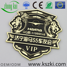 Customized brand car club car emblems and name