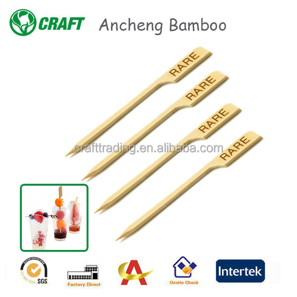 cheapest disposable party cocktail food bamboo gun skewers with handle