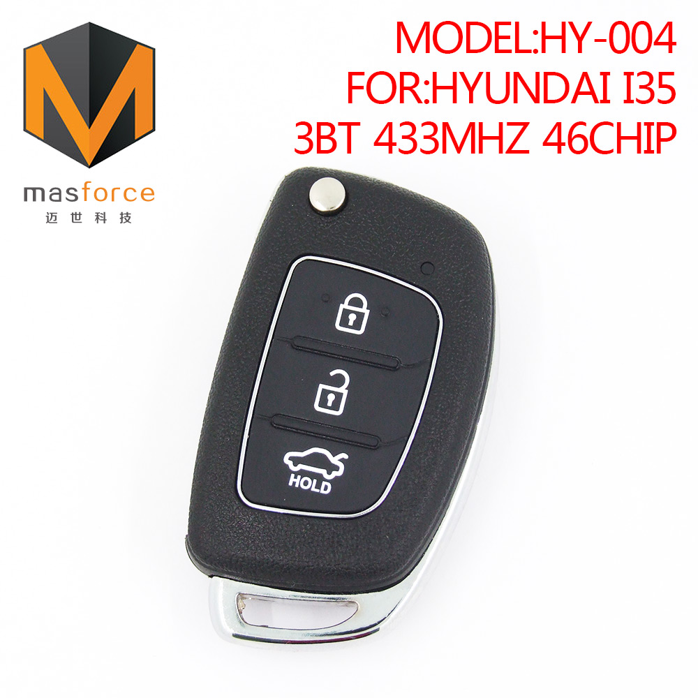 Remote control car key for Hyundai I35 3button 433MHz ID46 transponder chip