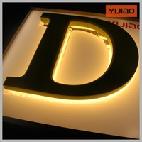 Mini shop sign acrylic letters custom lighting letter for shop