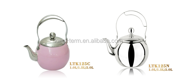 LTK119 excellent quality stainless steel kettle with colorful handle