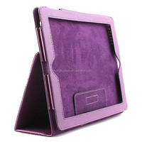 Litchi Grain Style PU Leather Case and Stand for Apple iPad 2