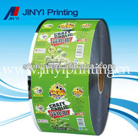Custom design plastic cooked food packaging film on roll