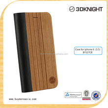 Wholesale Flip smart wood custom back case cover for iphone 6plus