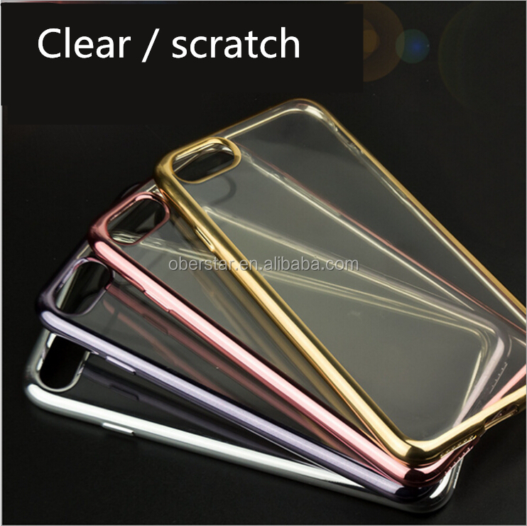 New For iPhone 7 Mobile Phone Cover Tpu Electroplating Phone Case