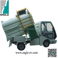 Electric garbage trucks, sealed rear box for liquid waste, EG6042X02