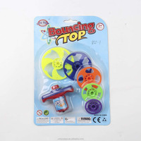 Plastic super spinning top toy bouncing top toy