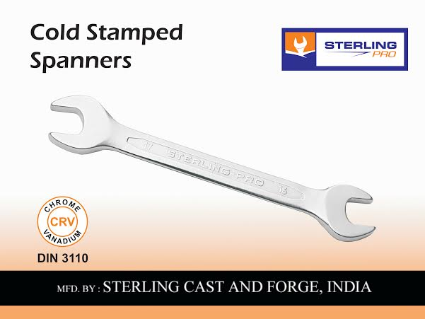 STERLING - DOUBLE OPEN END SPANNER PRESSED PANEL