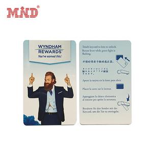 Customized 13.56MHZ Mifare 1K/4K Access Control PVC RFID Hotel Key Card
