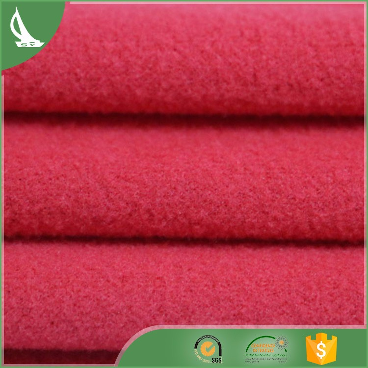 one side fleece fabric soft feeling winter clothes fabric
