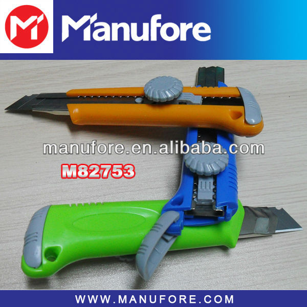 screw fixed blade color cutter knife