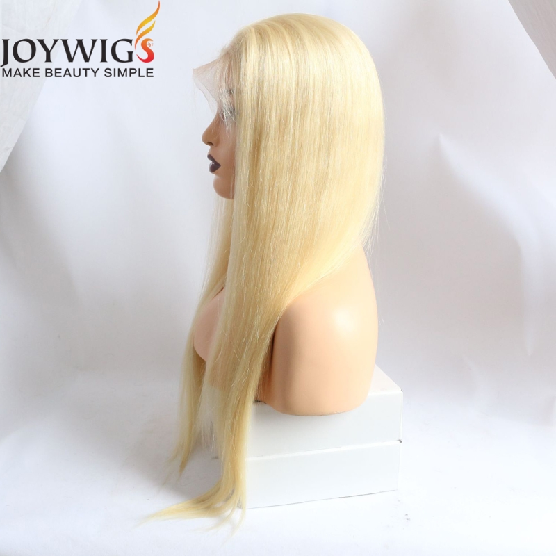 10a grade blonde hair wigs free parting cuticle aligned hair lace front wig