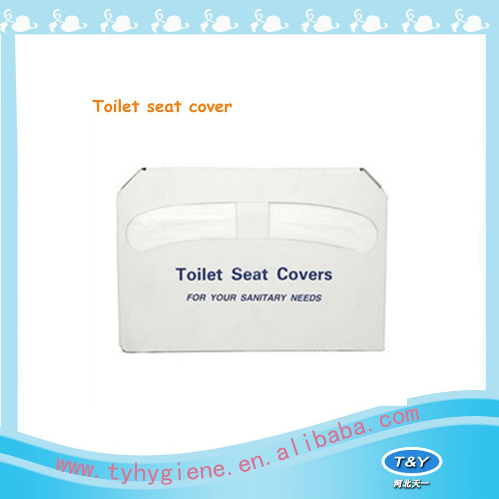 Flushable self-dissoving toilet seat from tissue paper