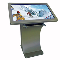 2016 Hot !!! J Free stand Keyboard Totem Touch video info kiosk