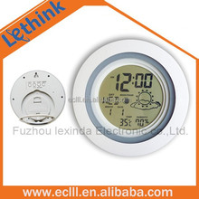 Digital table alarm clock weather station