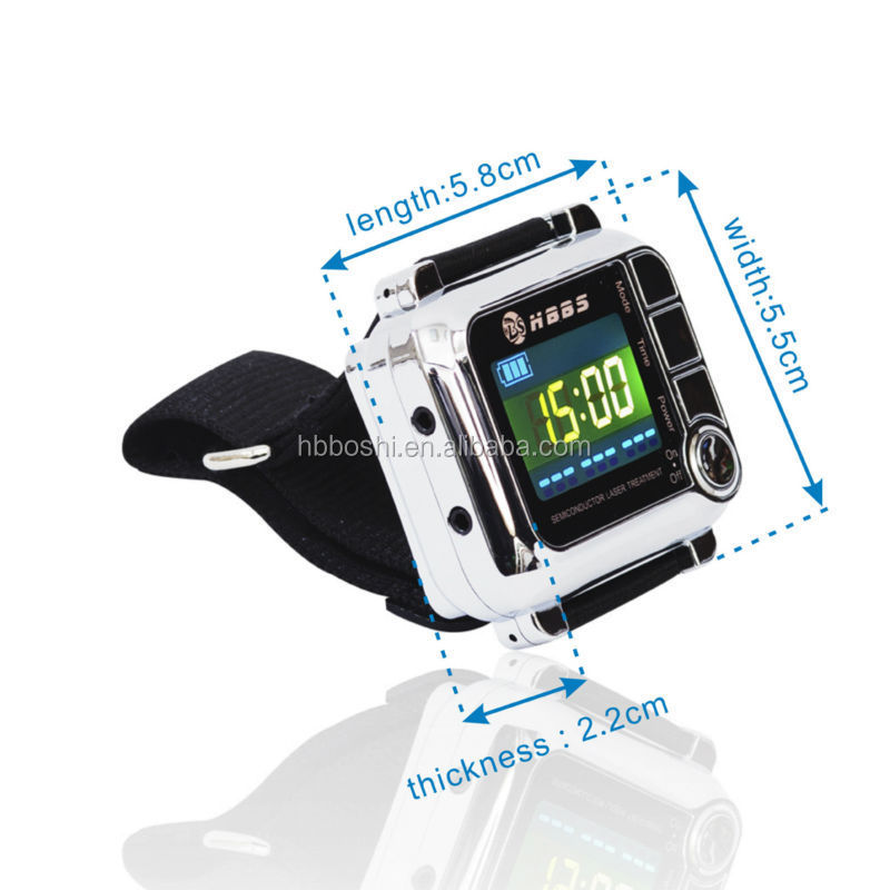 home use health care Low Level Laser Therapy 650nm Wrist Wearing Device for hypertension