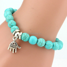 Wholesale Fashion Women Men Synthetic Chinese Turquoise Bracelet Beads, Handmade Bracelet