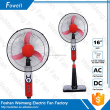 REMOTE CONTROL plastic stand fan stand fan with remote control solar power machines high quality stand fan with LED light