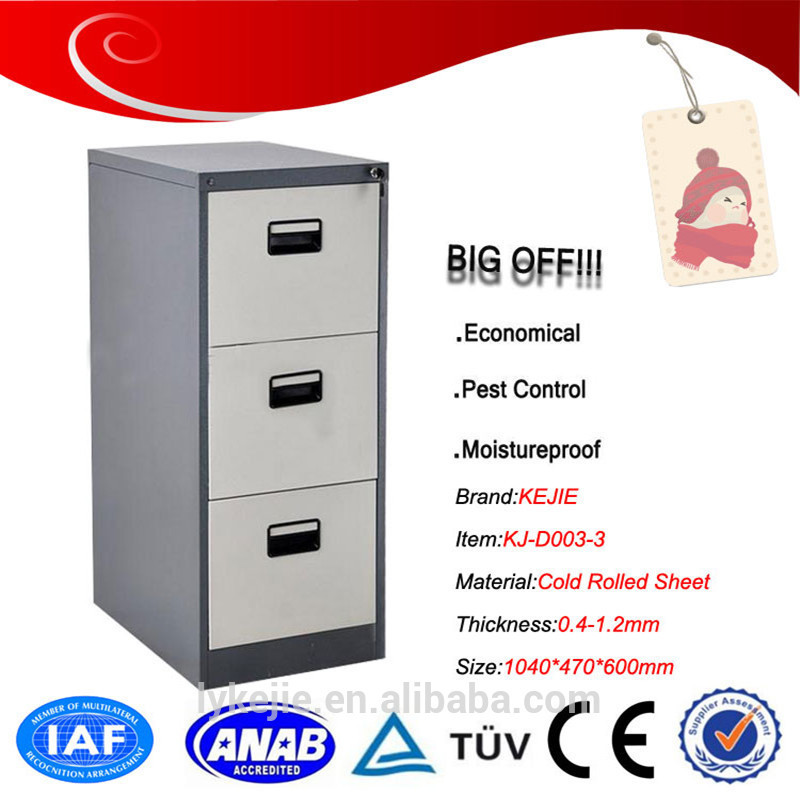 unfinished modern design 3 drawer cabinet/office file cabinet Metal Storage Furniture Vertical Steel Drawer Filing Cabinet