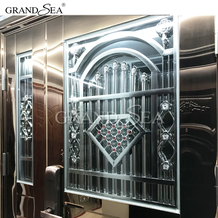 China high quality Superior First- Class stainless steel security door design