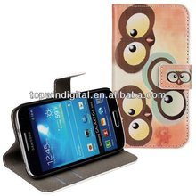 Cute Owl Pattern Leather Flip Case for Samsung Galaxy S4 mini i9190
