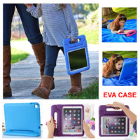 Hot sales Soft EVA Foam Kids Child Proof purple Kickstand Case Cover for iPad Air 2
