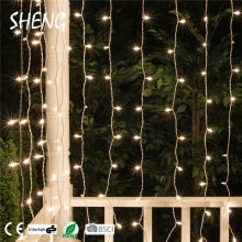 SHENG-CU-002 Cheap Diwali Christmas Festival Decoration Outside Lighting Mini Curtain Light String