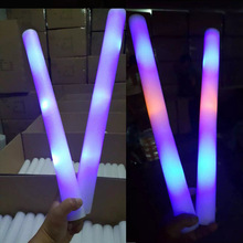 Full Logo Printed Customized Promotional Foam LED Stick, LED Batons, LED Glow Stick Led Light Up Foam Sticks