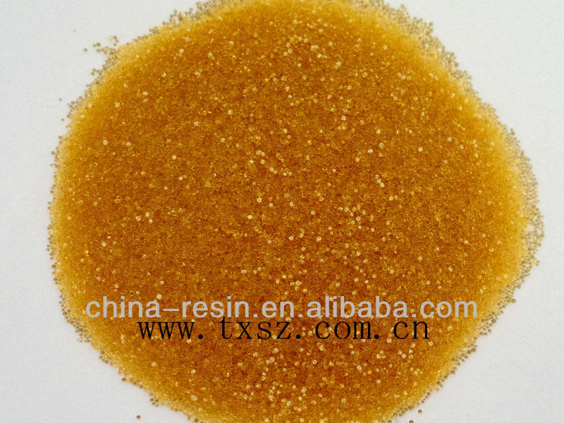 001x10 gel type strong acidic cationic ion exchange resin (deionizing resin