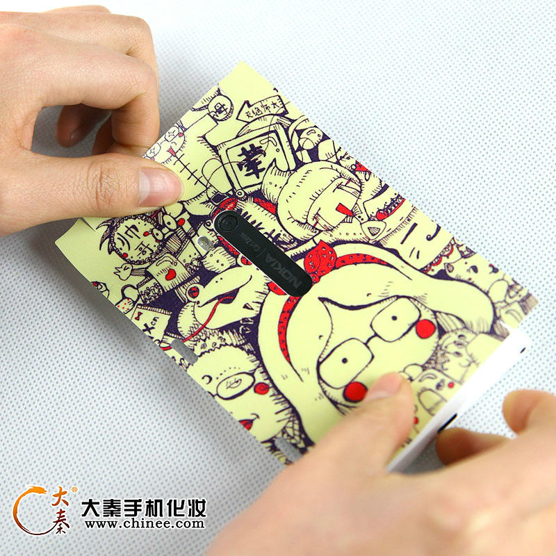 Printer for mobile phone skin sticker design software and cutter