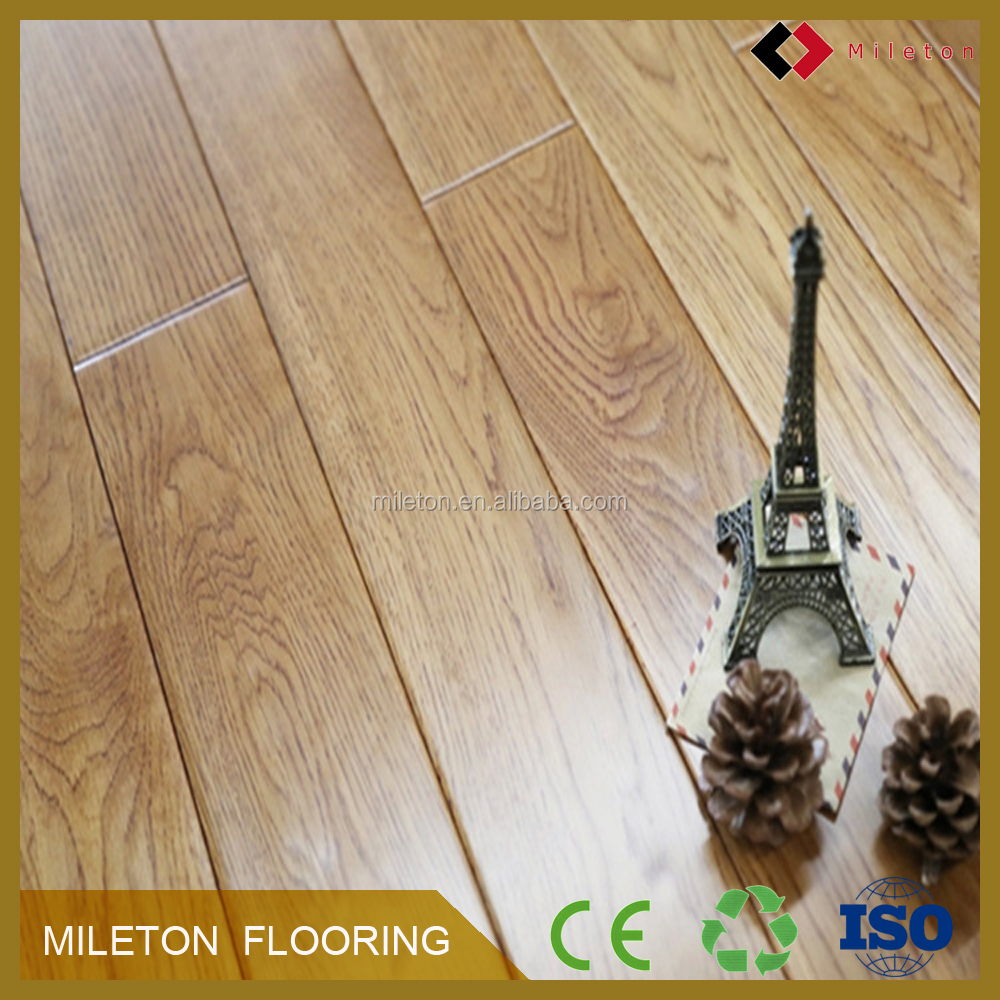 Hand grasp grain European grey oak solid wood floor Imported pure real wood flooring