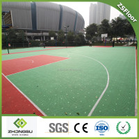 ZSFloor Portable Outdoor PP Plastic Interlocking Basketball Court Sports Flooring