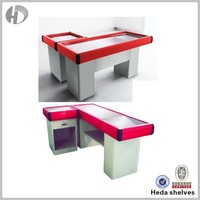 High quality supermarket display cashier counter for sale