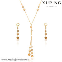 Xuping guangzhou jewelry, 18k Gold Filled Jewelry, african beads jewelry set