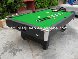 top quality green cloth billiard table game with logo sticker