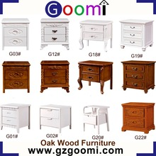 GanZhou Goomi Furniture Bedroom Use Solid Oak Wood Night Table Bedside Table