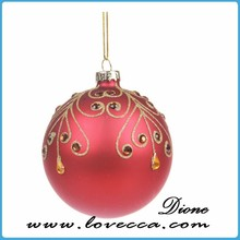 2015 glass manufacturer CUSTOM MADE wholesale handcraft glass star ornament