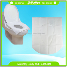 Disposable waterproof toilet seat cover for traveling and hotel