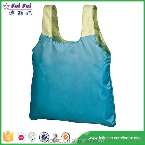 Top quality polyester folding shopping bag