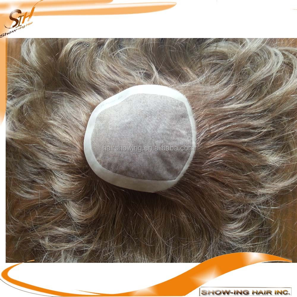 Virgin Mongolian Hair Wigs Kosher Kippah Topper Manufacturer
