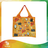 School Full Color Customized Recycling 90g Non woven Foldable Bag