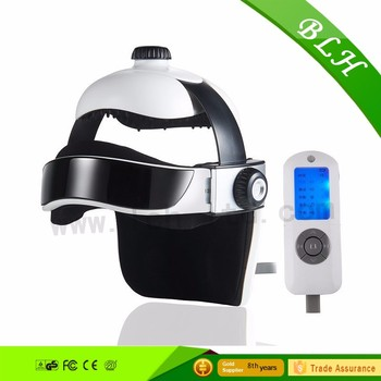 2016 low price air pressure head massager Custom logo Electric Music Heated kneading head eye massager