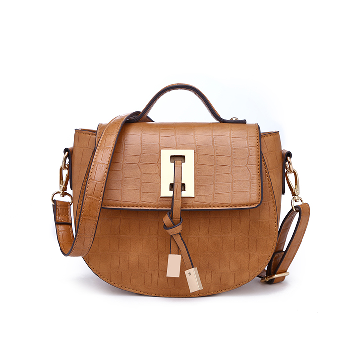 Newest style women flap cover crossbody bag Camel