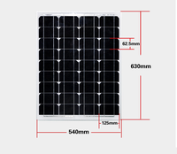 Solar 12v Mono Solar Panel 12v 50w SUN Cell For Home Photovoltaic PV Solar Energy Board /Solar Module