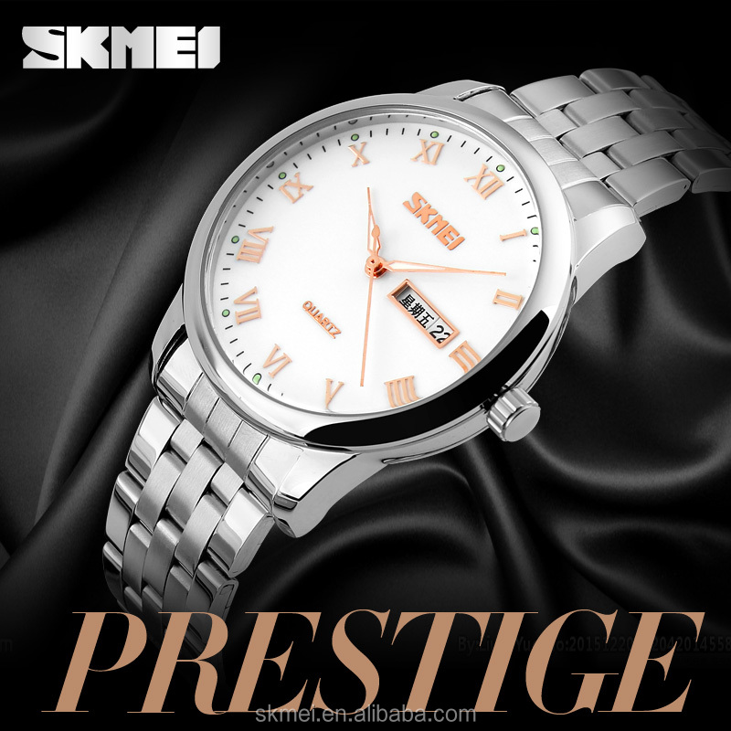 SKMEI own brand China watches man stainless steel wrist watches