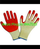 10Gauge knitted cotton gloves coated black latex gloves/free sample/cheaper price and best quality gloves