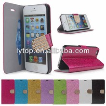 for iphone4/4s bling leather case with diamond button