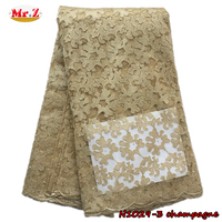 A Large Number Of Spot High Quality Gold African French Net Lace With Stones And Beads For Party N1029