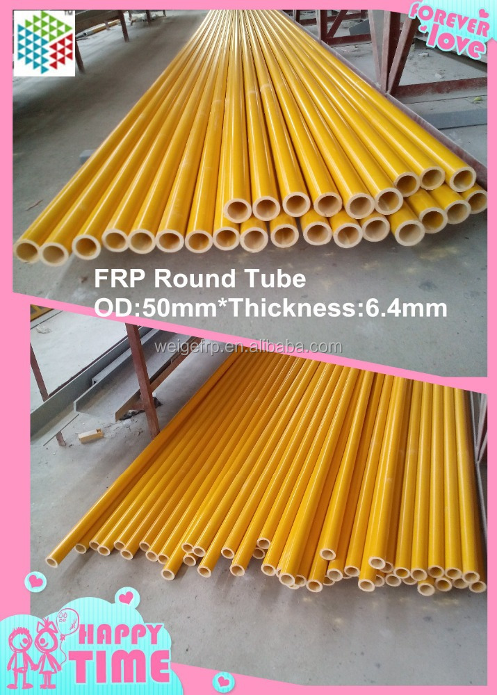 Used to assemble FRP ladder FRP Pultrusion Round Tube