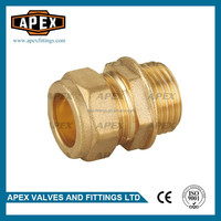 APEX Equal Male Brass Compression Fittings